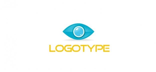 Modèle de logo oeil pour les affaires et les communications