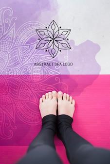 Modèle de logo de salon spa abstrait