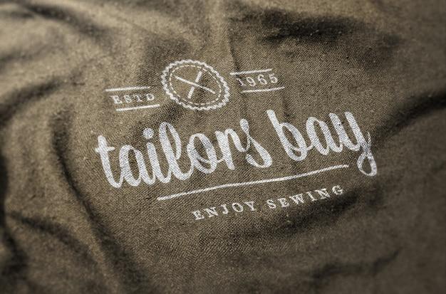 Modèle de logo sur tissu
