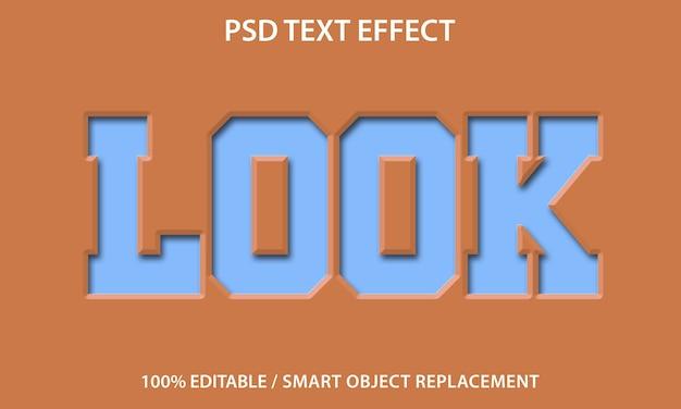 Modèle De Look De Papier à Effet De Texte Modifiable PSD Premium
