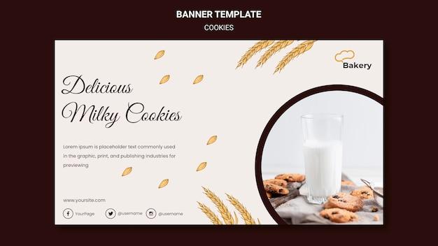Modèle de magasin de cookies de bannière