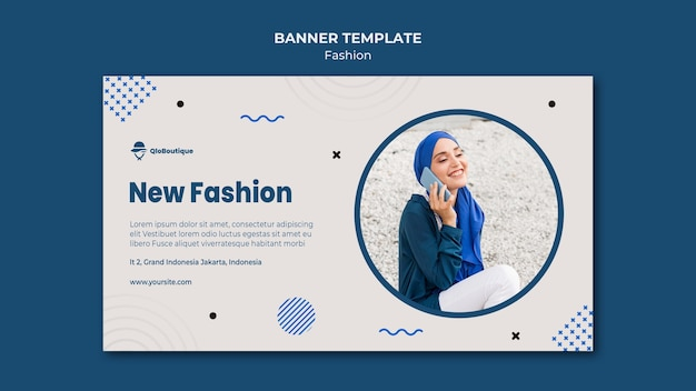 Modèle de magasin de mode bannière