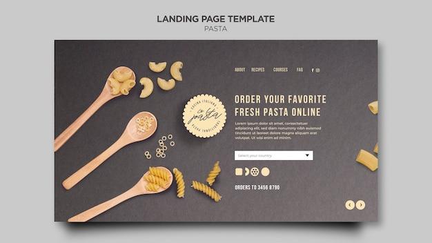 Modèle de magasin de pâtes de page de destination