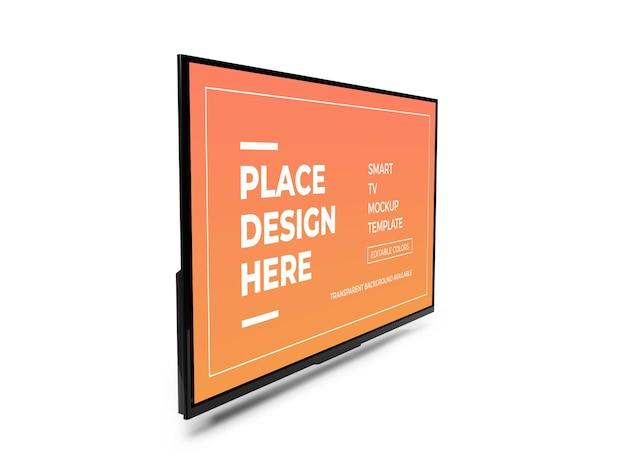 Modèle de maquette 3d réaliste smart tv isolé