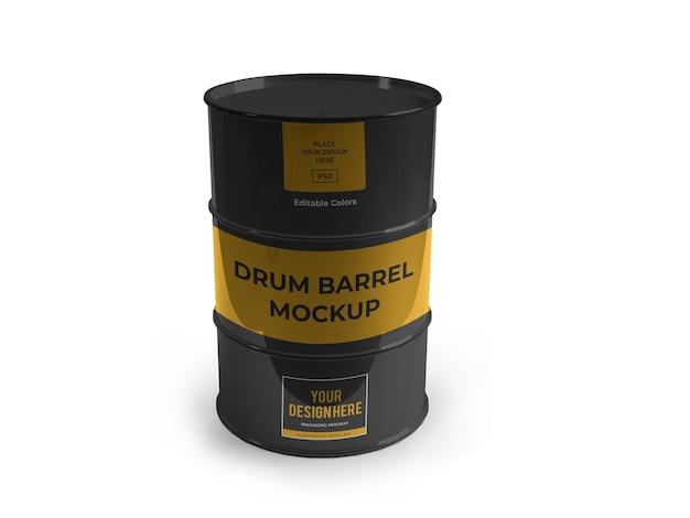 Modèle de maquette de baril de tambour isolé