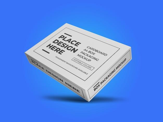 Modèle de maquette de boîte en papier a4 en carton psd