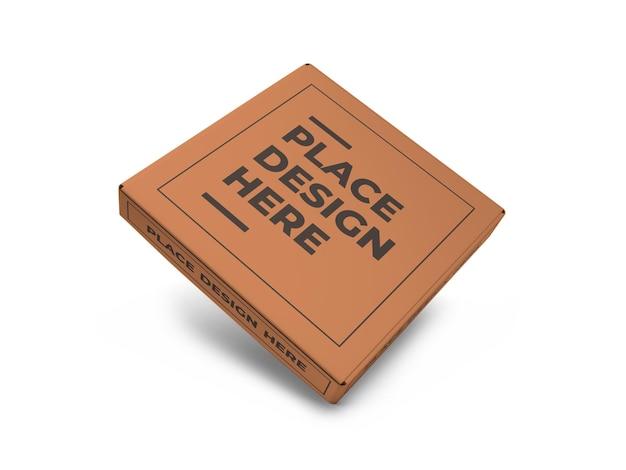 Modèle de maquette de boîte à pizza réaliste isolé