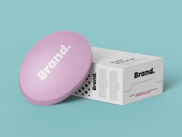 Modèle de maquette de boîte à savon