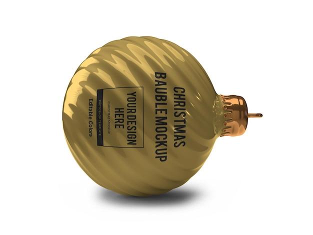 Modèle de maquette de boule de boule de noël réaliste isolé