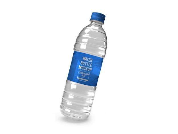 Modèle de maquette de bouteille d'eau réaliste isolé