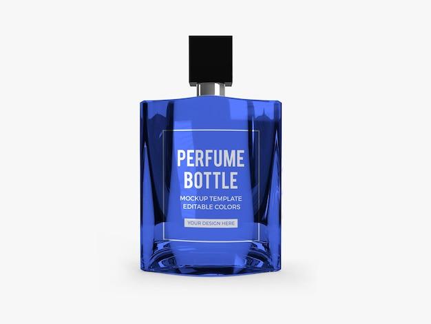 Modèle de maquette de bouteille de parfum psd