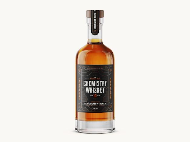 Modèle de maquette de bouteille de whisky
