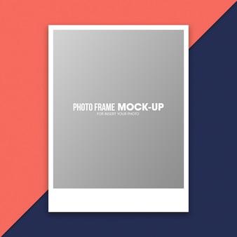 Modèle de maquette de cadre photo polaroid