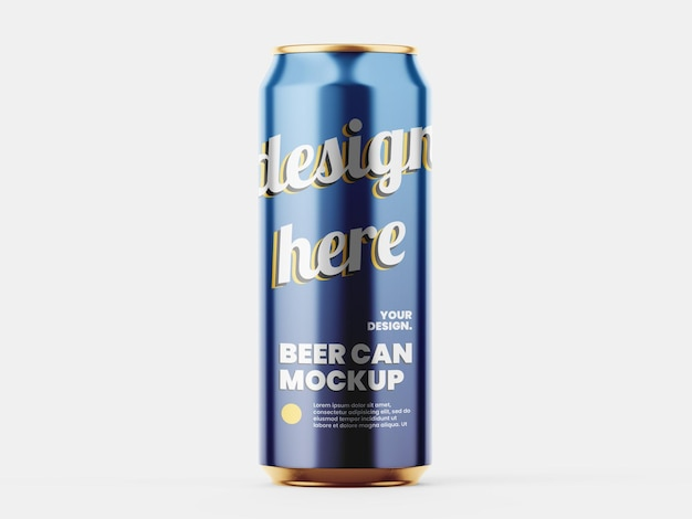 Modèle de maquette de canette de bière