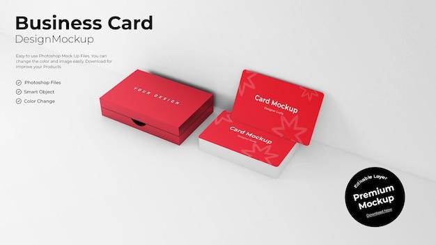 Modèle de maquette de carte de visite ou de carte d'identité modifiable avec la boîte