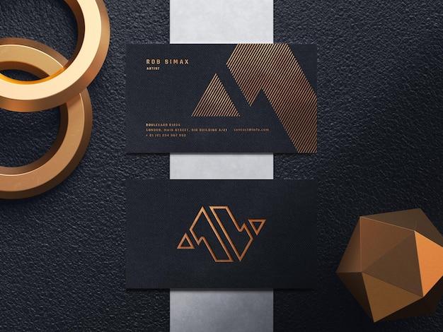 Modèle de maquette de carte de visite de luxe