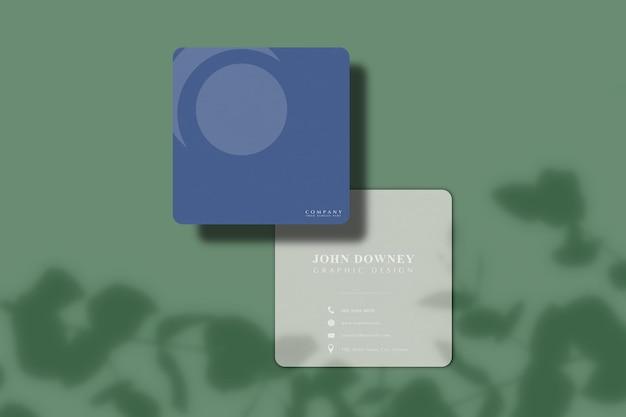 Modèle de maquette de carte de visite moderne. pour l'image de marque de présentation, l'identité d'entreprise, la publicité
