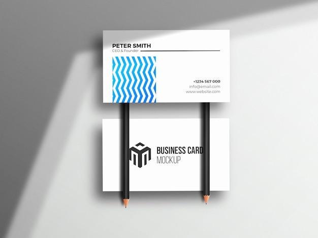 Modèle de maquette de carte de visite propre d'entreprise
