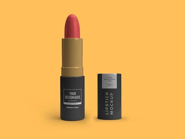 Modèle de maquette cosmétique de rouge à lèvres isolé