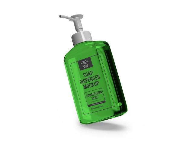 Modèle de maquette de distributeur de savon liquide réaliste isolé