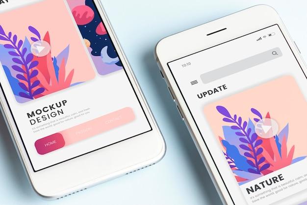 Modèle de maquette d'écran pour téléphone mobile premium