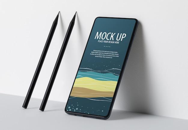 Modèle de maquette d'écran de téléphone mobile premium