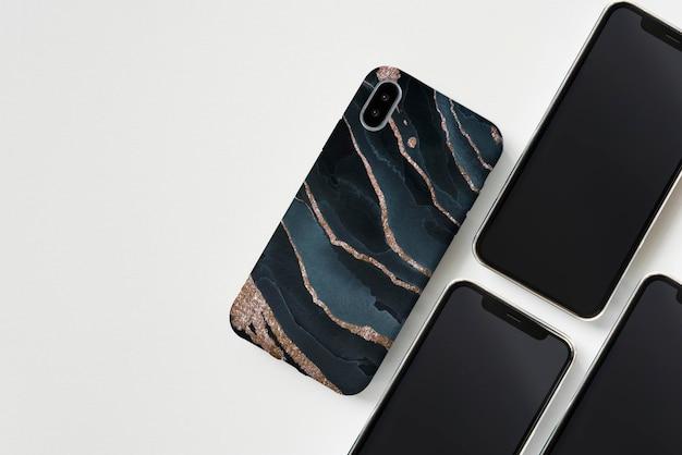 Modèle de maquette d'écran de téléphone portable premium