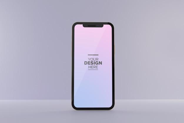Modèle de maquette d'écran de téléphone portable psd gratuit