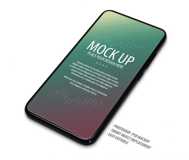 Modèle de maquette d'écran de téléphone portable