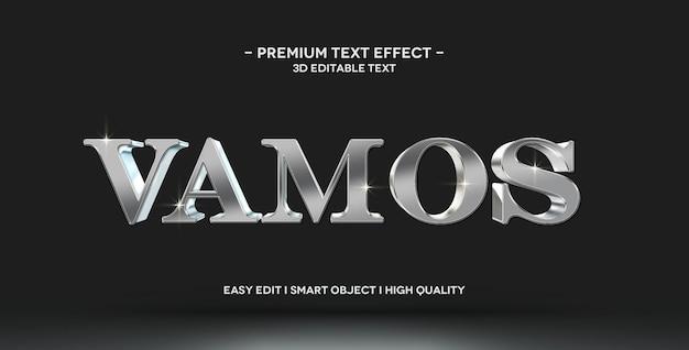 Modèle de maquette d'effet de style de texte vamos 3d