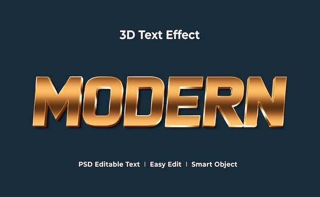 Modèle de maquette d'effet de texte 3d moderne