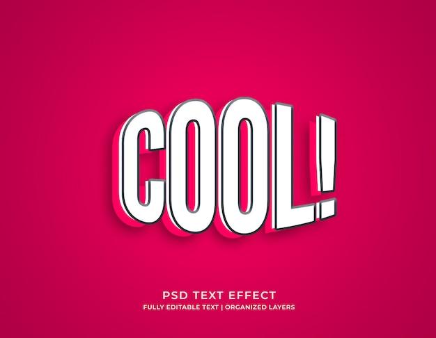 Modèle de maquette d'effet de texte modifiable de style 3d cool