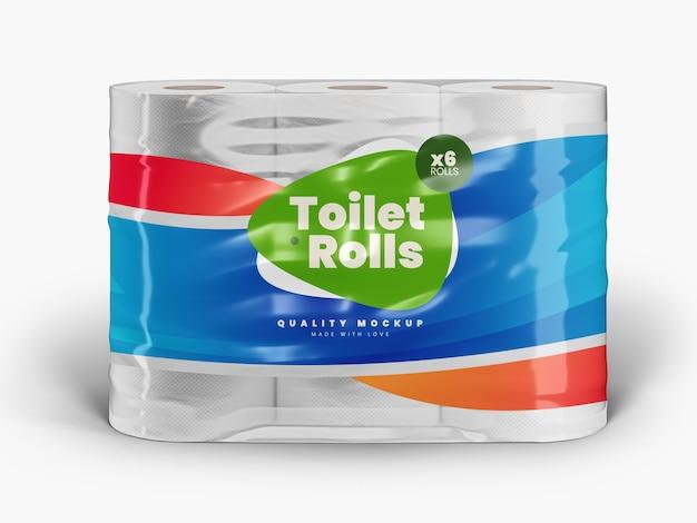 Modèle de maquette d'emballage de papier toilette