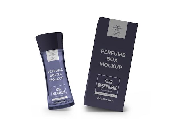Modèle de maquette d'emballage de parfum isolé