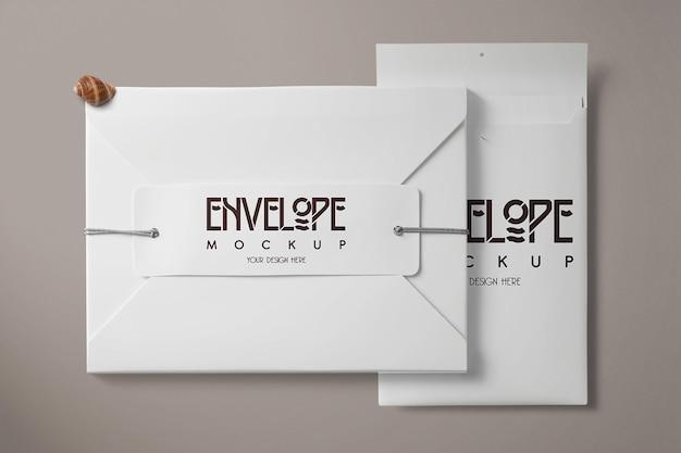 Modèle de maquette d'enveloppe blanche
