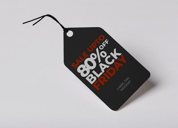 Modèle de maquette d'étiquette d'étiquette pour le vendredi noir