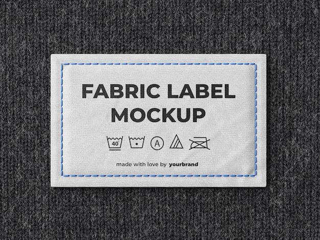 Modèle de maquette d'étiquette de tissu