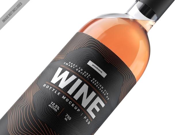 Modèle de maquette d'étiquette de vin