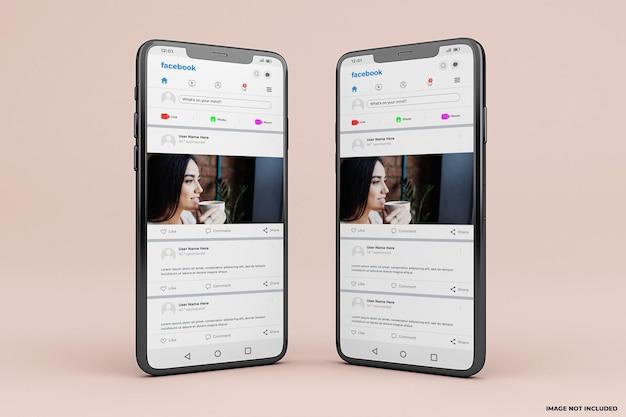 Modèle de maquette d'interface mobile facebook
