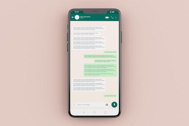 Modèle de maquette d'interface mobile whatsapp
