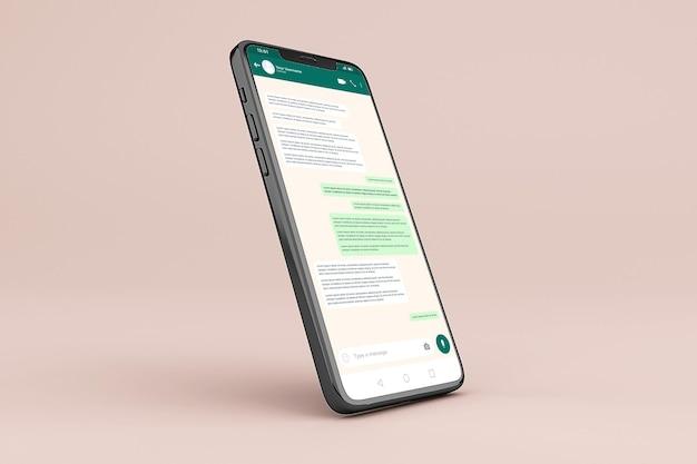 Modèle De Maquette D'interface Mobile Whatsapp PSD Premium