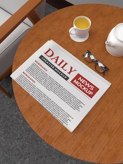 Modèle de maquette de journal quotidien