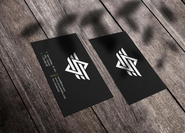 Modèle de maquette de logo de carte de visite de luxe