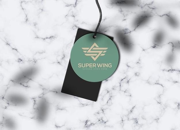 Modèle de maquette de logo d'étiquette d'étiquette de luxe