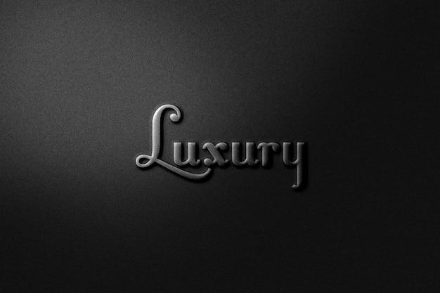 Modèle de maquette de logo de luxe
