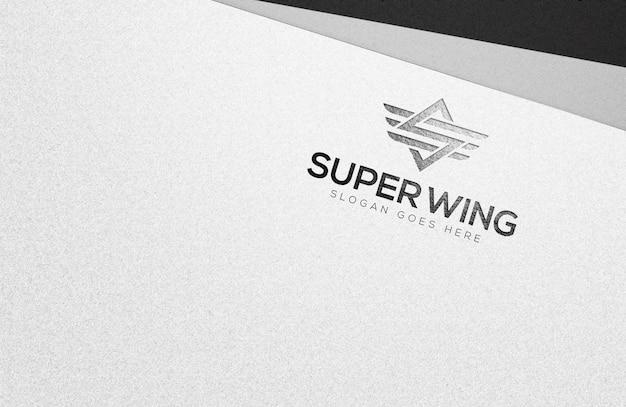 Modèle de maquette de logo en papier blanc élégant