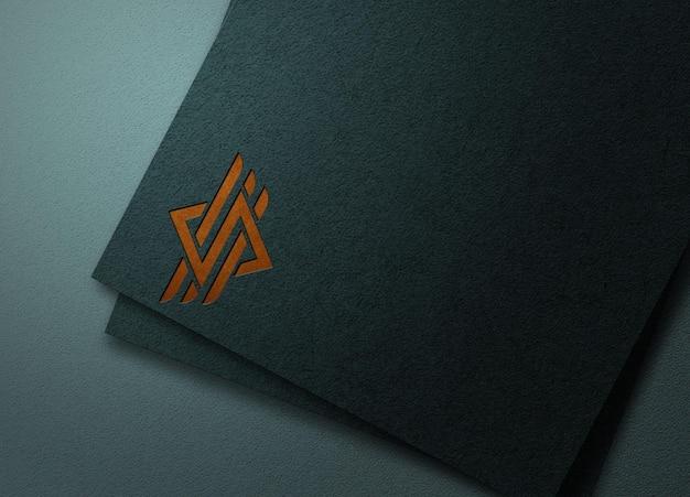 Modèle de maquette de logo en papier de luxe