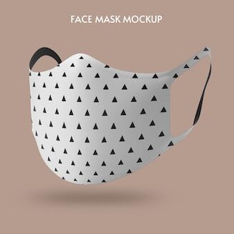 Modèle de maquette de masque facial