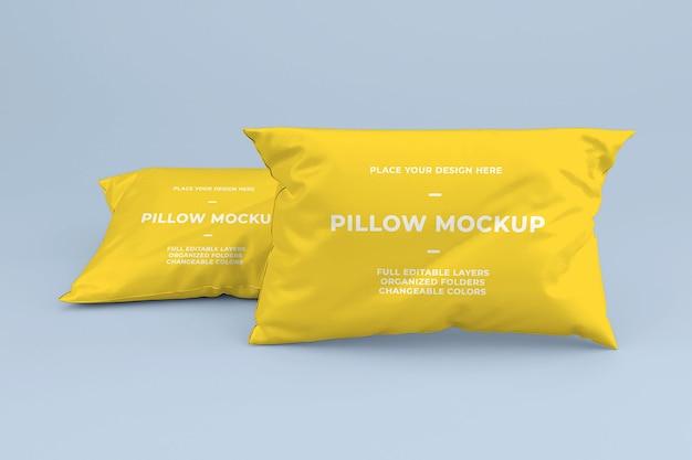 Modèle de maquette d'oreiller en coton réaliste