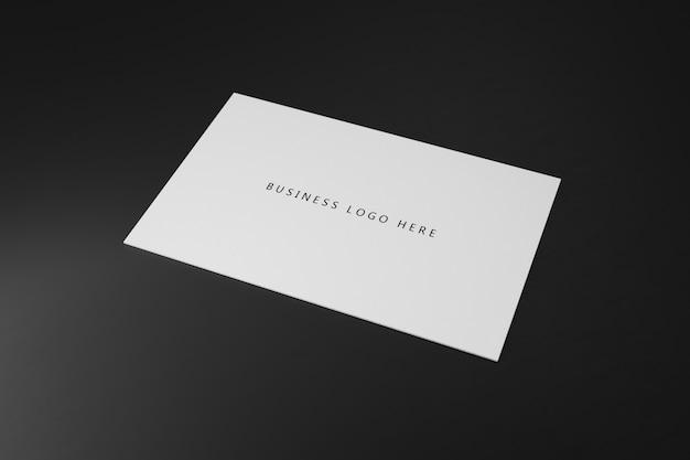 Modèle de maquette de papier de carte de visite horizontale blanche avec couvercle d'espace vide